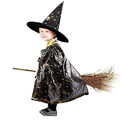 Anzmtosn Disfraces de Halloween Unisex Mago de Bruja Capa ...