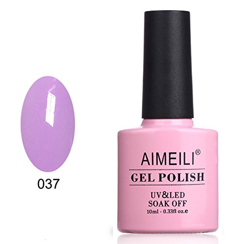 AIMEILI Soak Off UV LED Gel Nail Polish - Lilac Lightning  1