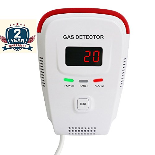 Natural Gas Detector /Home Gas Leak Alarm /Tester Sensor Combustible Gases: Propane,Methane,CH4, LPG,Butane,Coal Gas/Human Voice /LED Display/Explosive Gas Detector