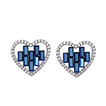Xuping Thanksgiving Luxury Love Heart Stud Earrings Crystals from Swarovski Fashion Jewelry Gifts