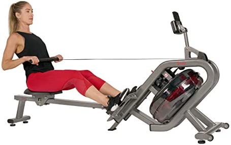 Sunny Health Fitness Phantom Hydro Water Rowing Machine