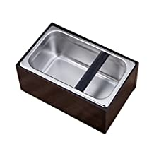 Baoblaze Knock Box Brown 11''x5''x7'' Espresso Knock Out Box for coffee grounds Home