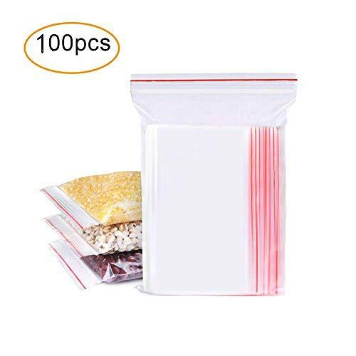 Bolsas con Cierre Hermetico Transparentes Bolsas de Plastico de Cierre Automatico 100 Piezas(10*15CM)