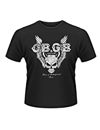 CBGB T Shirt Skull Wings logo new Official Mens Black