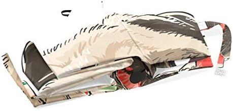 Chovy 日傘 UVカット ワンタッチ 折りたたみ傘 軽量 自動開閉 遮光 レディース メンズ 晴雨兼用 パグ スイカ いぬ 犬柄 かわいい 可愛い 雨傘 傘 晴雨傘 折り畳み 8本骨 遮熱 丈夫 耐風撥水 収納ポーチ付き プレゼント