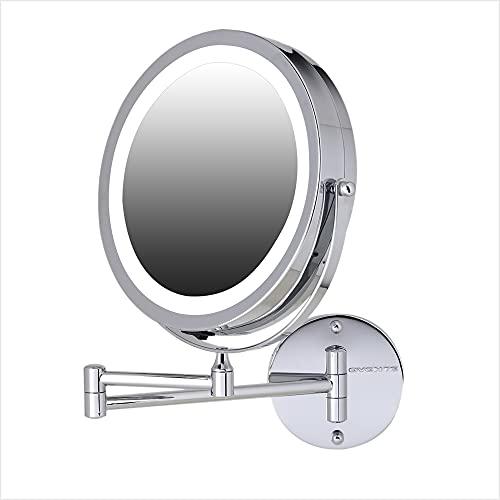 Espejo De Maquillaje Con Luz Led Para Pared 7x Ovente cromo