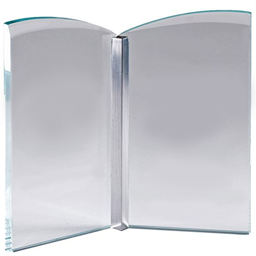 - Customizable 7-1/4 Inch Optical Crystal Open Book Award, includes Personalization