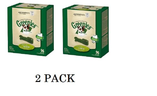 Greenies Treat-Pak for Dogs, Original,2 Pack 192 COUNT 27oz,Teenie