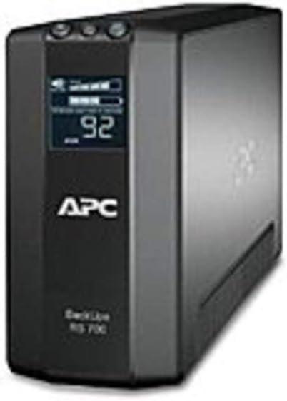 Renewed APC BR700G Back-UPS RS Line Interactive Master Control UPS 700 VA//450 Watts Black