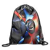 Abstract Fractal Drawstring Backpack Shoulder Bags Gym Bag Travel Backpack
