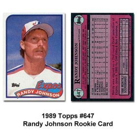 Amazoncom 1989 Topps Randy Johnson Baseball Rookie Card In