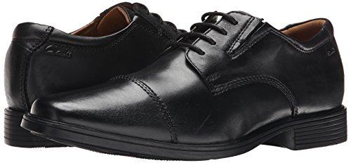Clarks Men's Tilden Cap Oxford Shoe,Black Leather,12 M US