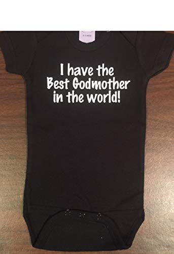 e82325cec Amazon.com: I have the best Godmother baby onesie godmom infant one piece:  Handmade