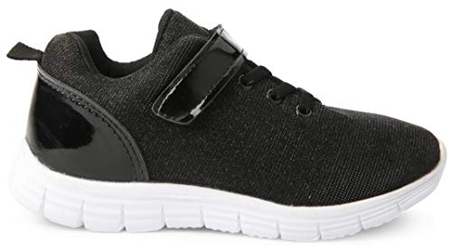 Image of JELLY BEANS Girls Glittering Sneakers Casual Running Shoes Black 3