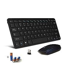 Bestdeal Black Wireless Mini Ultra Slim Keyboard & Mouse for LG Smart TV 47LM6400 & 32LN575V & 42LN5700 & 42LW551C & 42LA660V & 32LS570T