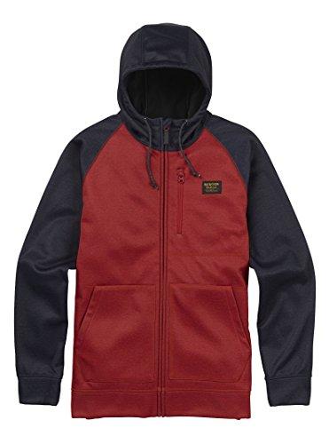 Burton Men's Bonded Full-Zip Hoodie, Process Red, XX-Large