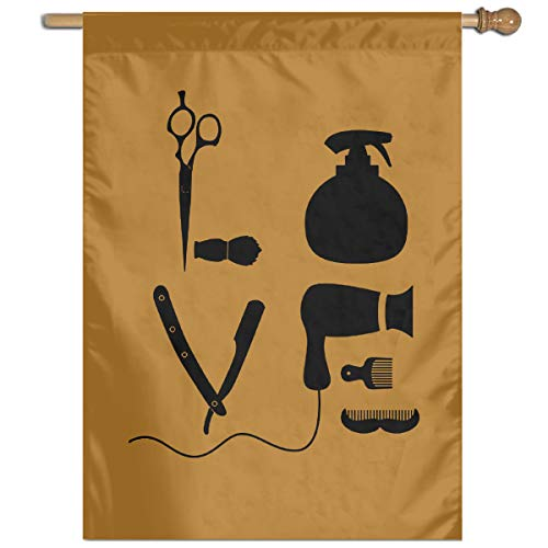 (Pokuisnb Most Durable Flag Barber Salon Hairdresser Love for Farmhouse House Flower Yard Indoor Outdoor Decor Flags 27x37 Inch)