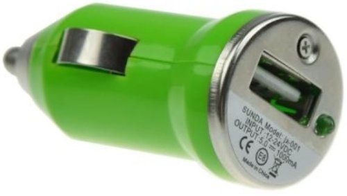 USB Car Charger Adapter - Green (Various Colors Available) from celtalux.com / celtalux@ebid.net