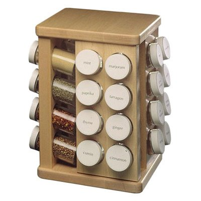 Sugar Maple Carousel Spice Rack Spice Carousel Count: 16 Bottles