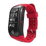 RUNMIND GPS Smart Band Bracelet Heart Rate Sleep monitor pedometer IP69 Waterproof, Red