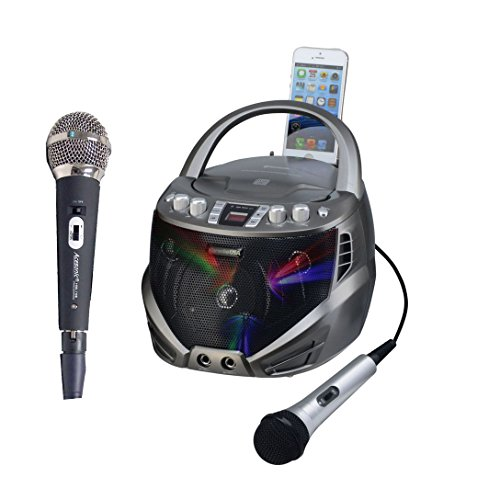 Karaoke USA GQ263 Portable CDG Karaoke Player with Extra Microphone -  Ace Karaoke, HKUSAI0263+HACEMP0708