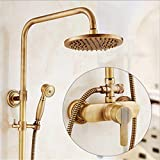 UNIQUE-F Selected All-Copper Antique Shower Set Rain Shower Type Bathroom Supercharged Spray Gun Hot Cold Water Effluent Fine 3 Styles