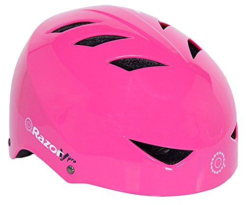 - Razor VPro Multi-Sport Youth Helmet with No-Pinch Magnetic Buckle, Pink