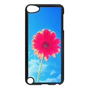 Red Yellow Sun Flower Ipod Touch 5 Cases Protective Cute For Girls, Ipod Touch 5 Case For Girls [Black]