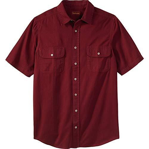 - Boulder Creek Men's Big & Tall Short-Sleeve Renegade Shirt, Steel Tall-3XL