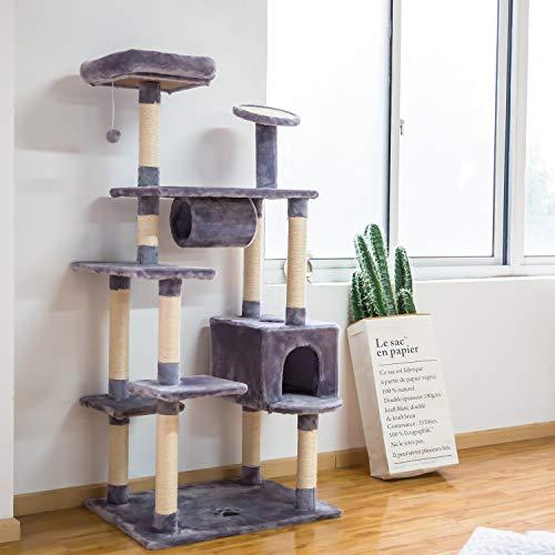 Kinbor Cat Tree Condo Multi-Level Scratcher Post Pet Bed Furniture, 60 inch