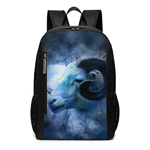 Constellation Astrology Zodiac Aries Laptop Backpack Business Travel Computer Bags School Bookbag Notebook for Women Men