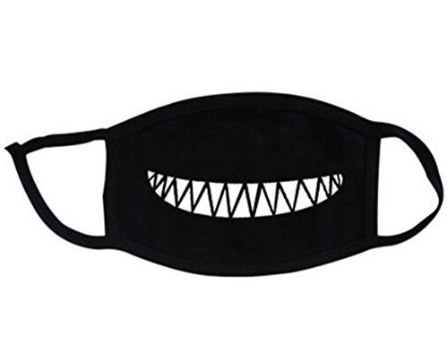 Super Hunter Outdoor Protective Cartoon Teeth Cotton Face Mouth Mask Suitable for Adults (#9 Black) ()