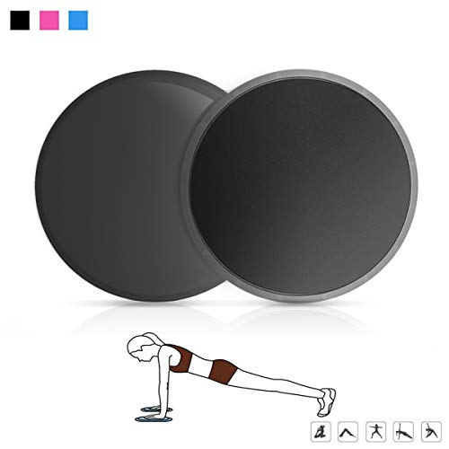 Gama Exercise Sliders,Fitness Gliding Discs Core Sliders,Dual Sided Use on Carpet or Hardwood Floors,Core Sliders for Strength Training,Abdominal Workout,Travel,Home,Gym