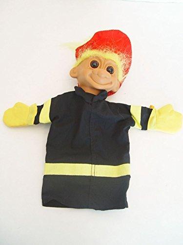 Fireman Hand Puppet - Fireman Fire Chief Troll Hand Puppet with Yellow Hair 9