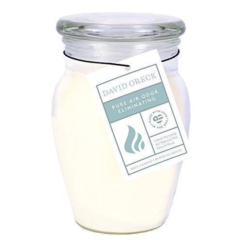 David Oreck Candle Company Odor Eliminating Natural Soy Candles, Fresh Linen, 18oz, 100 Hour Burn time ()