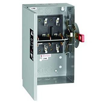 ge 60 amp 240-volt non-fused indoor general-duty double-throw safety switch:  amazon com: industrial & scientific
