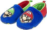Super Mario Slippers for Kids, Mario and Luigi Nintendo Slippers,Slip-On Slippers, Plush, Little Kid/Big Kid S