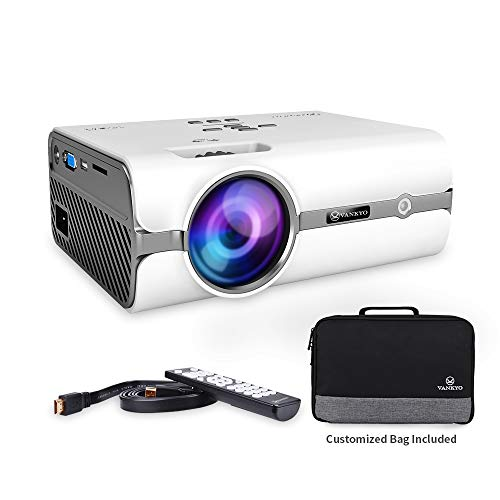 VANKYO Leisure 410 LED Projector with 2500 Lux, Carrying Bag and HDMI Cable, Portable Projector Supports 1080P, HDMI, USB, VGA, AV, SD Card, Compatible with Fire TV Stick, PS3/PS4, Xbox by VANKYO