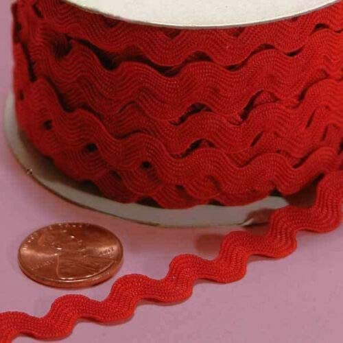 574 Red RIC Rac Trim 7mm// Slightly More Than 1//4 inch Price for 4 Yard ndKE