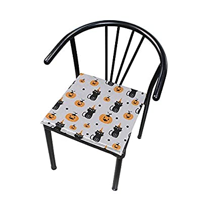 Bardic FICOO Home Patio Chair Cushion Pumpkin Cat Square Cushion Non-Slip Memory Foam Outdoor Seat Cushion, 16x16 Inch: Home & Kitchen