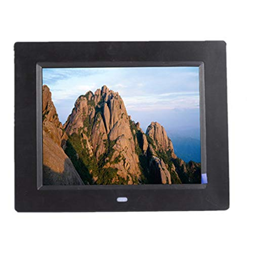 (Digital Photo Frame Digital Picture Frame Electronic Photo Frame Digital Photo Frame Multi-function High-definition Full Format Support RMVB 720P / 1080P Video Playback Can Be Wall 8 Inches UK (Color)