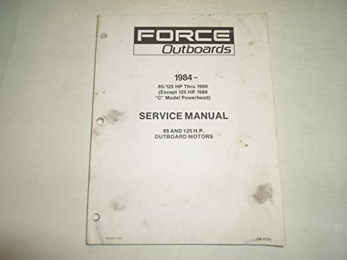 (1984 1988 Force Outboards 85 125 HP Motors Service Repair Manual WATER DAMAGED)