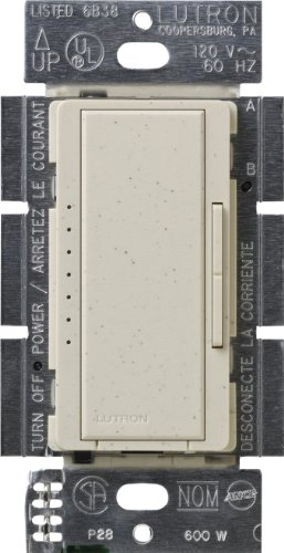 Location 1000 Watt Dimmer (Lutron MSC-1000M-LS  Maestro 1000-watt Multi-Location Digital Dimmer, Limestone)