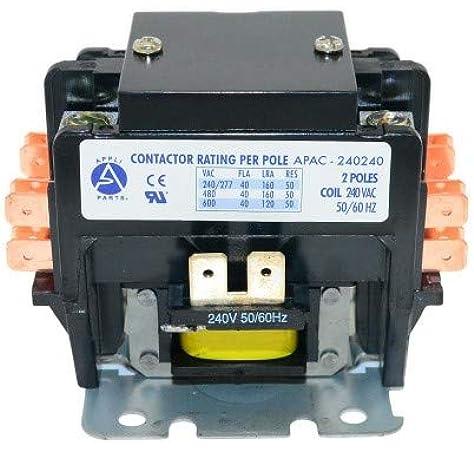 amazon.com: appli parts heavy duty 2 poles contactor 40 amp 240 volt coil  ul 476929 apac-240240: home improvement  amazon.com