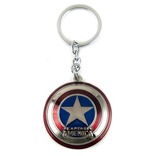 Lzy-magasin Capitaine America's Bouclier Porte-clefs Porte-clés Bag Accessoires Jewelrys (Anneau métal avec strings attaché) - Multicoloured, Multicolore, Silver