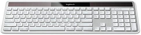 LOG920003472 Full Size Silver Logitech Wireless Solar Keyboard for Mac