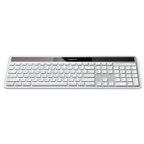 Logitech 920003472 Wireless Solar Keyboard for Mac, Full Size, Silver