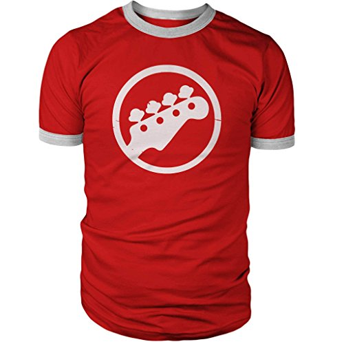 Scott Pilgrim Screen Printed Bass Logo Combed Ring-Spun Cotton Ringer T-Shirt