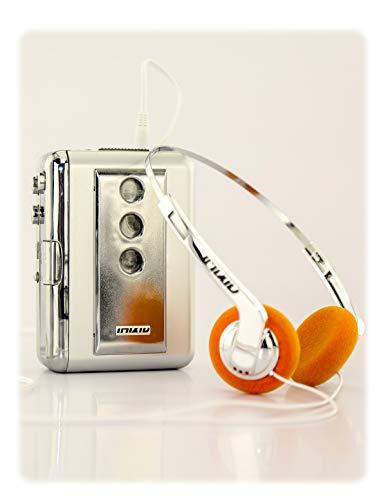 FYDELITY Audio Cassette Tape Player with Retro Headphones & Mp3 80s Portable