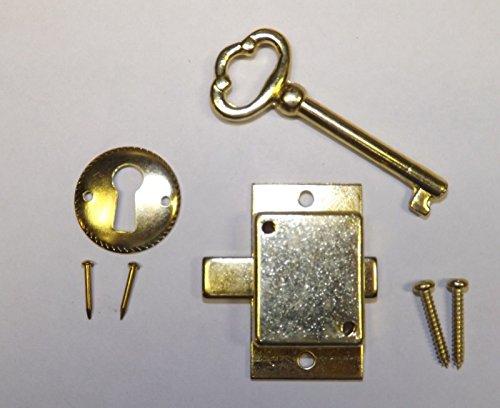 Grandfather Clock Door Lock & Key Set NEW Brass Ridgeway Howard Miller Sligh (Sligh Grandfather Clock)